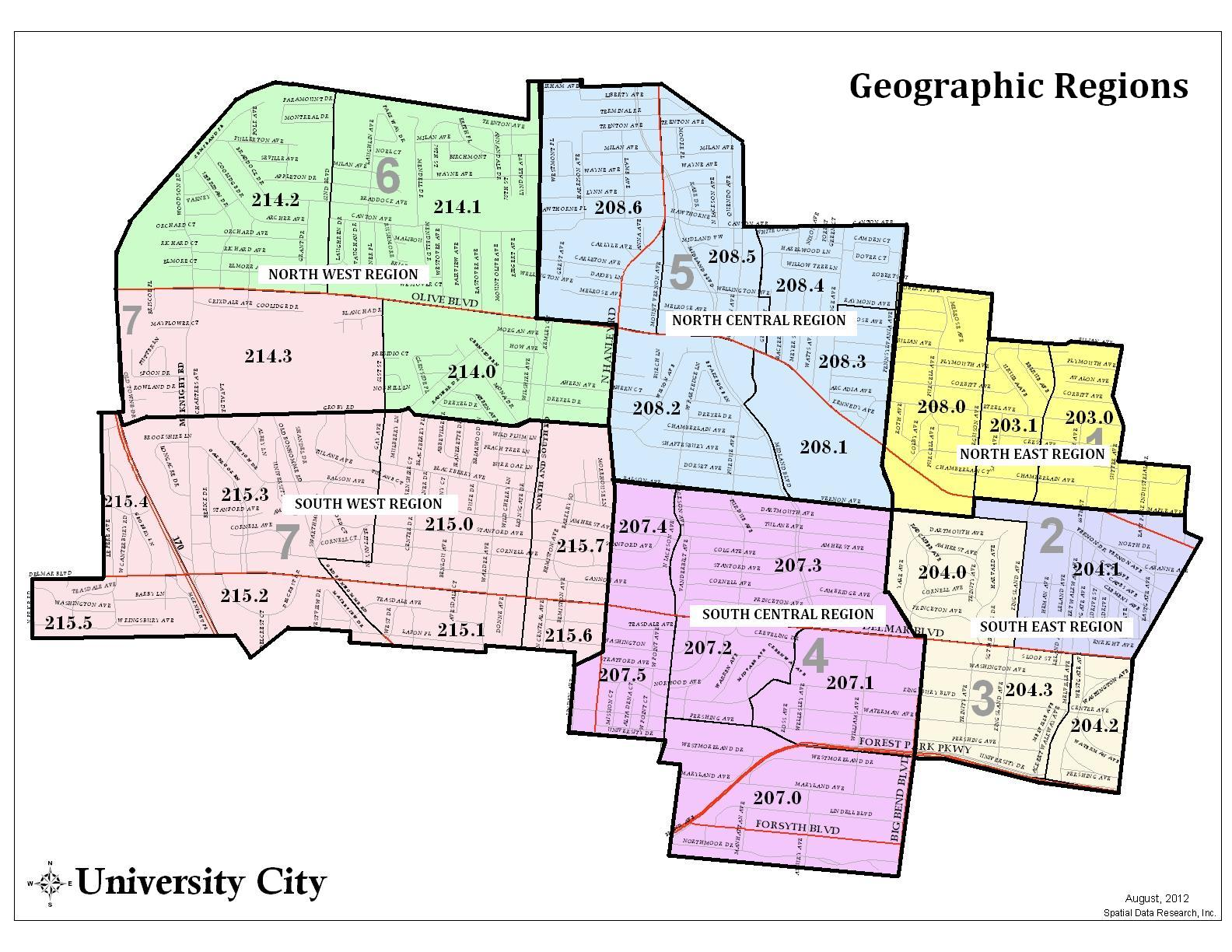 Crime Statistics By Region University City MO Official Website - Map of cities in missouri