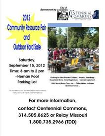 Resource Fair-Yard Sale
