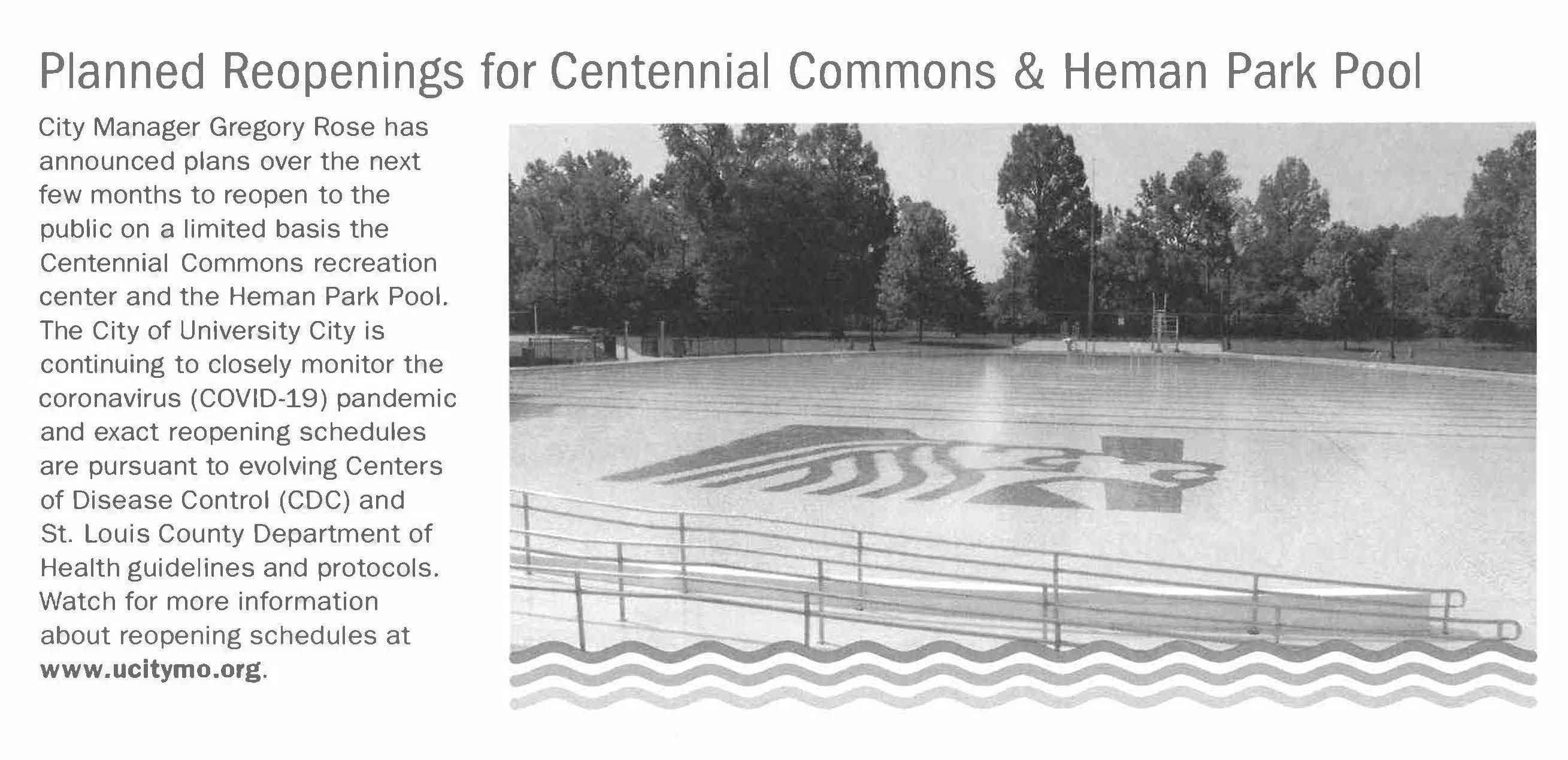 Centennial Commons 2021 Reopening